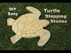 How to easily make Sea Turtle Shaped Stepping Stones