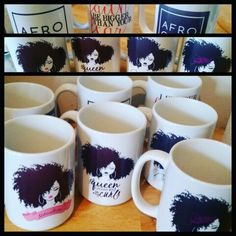 Iam a Queen Crowned in my Curls ..Afro Chic & Naturalista Mugs ...  http://shop.spreadshirt.com/NaturalChicintheCity/ IG: IAM_ERICAYCAMPBELL