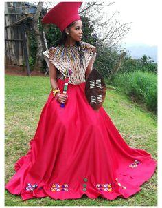 Zulu Traditional Wedding Dresses, Zulu Traditional Attire, South African Traditional Dresses, Traditional Dresses Designs, Traditional Outfits, South African Dresses, Latest African Fashion Dresses, African Print Dresses, African Wedding Attire