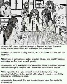 Depression, anorexia and bulimia How I Feel, How Are You Feeling, Burn Out, Art Brut, Thing 1, Depression Quotes, Depression Art, Fighting Depression, Mental Disorders