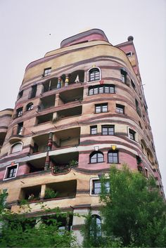 Hundertwasser building in Darmstadt, Germany