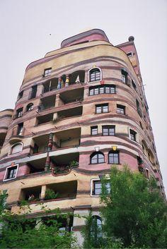 Hundertwasser building in Darmstadt, Germany