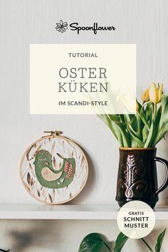 Tutorial: Osterküken im Scandi-Style Spoonflower, Diy Ostern, Scandi Style, Blog, Place Cards, Place Card Holders, Inspiration, Diys, Fabric Patterns