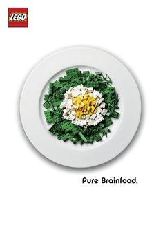 Pure Brainfood  Advertising campaign for LEGO Bricks by german advertising agency ServicePlan.