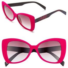 Italia Independent 'I-V' 65mm Oversize Butterfly Sunglasses
