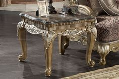 Caesar Palace European Style Classic Marble Sofa Table (antique white) - MelodyHome.com