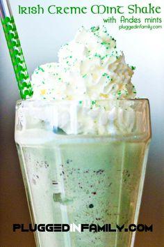 Irish Cream Mint Shake #12Bloggers