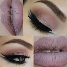 I love the eyes but not the lips, nothing against matte lips! Just not a good look for me.