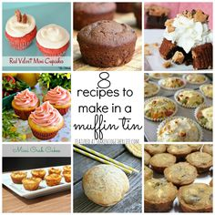 8 recipes to make in a muffin tin featured at shakentogetherlife.com