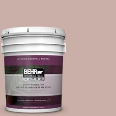 BEHR Premium Plus Ultra 5 gal. #hdc-CT-07A Vintage Tea Rose Eggshell Interior Enamel Paint