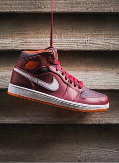Nike Air Jordan 1 Mid  Team Red Electric Orange Jordans Sneakers 89d4f9dd0