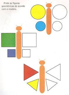 Atividade Infantil: Atividades com as formas geométricas