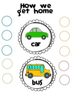 "Free ""How we get home"" classroom organizer display printable! Super cute and easy! Great visual for substitutes that you can modify throughout the year."