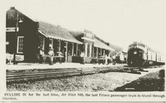 Last passenger train to pull into Sikeston Mo. 1964