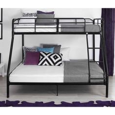 ICYMI: Twin Bunk Beds Over Full Black Metal Frame Ladder Kids Students Room For Sale: $231.23End Date: Jan-13 04:33Buy It Now… #eBay #Amazon