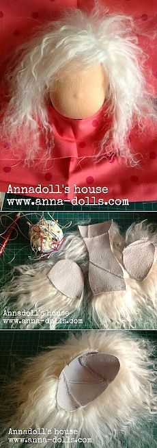 МК вальдорфская кукла с волосами из овечьей шкурки: