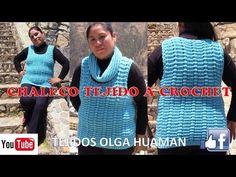 Chaleco Tejido a crochet - TEJIDOS OLGA HUAMAN - YouTube