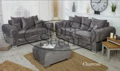 Chesterfield Style Verona Sturdy Sofa Set 3+2 Seater Fabric · $549.99 Fabric Chesterfield Sofa, Sofa Deals, Black Sofa, Sofa Set, Verona, Home Office, Upholstery, Mid Century, Lounge