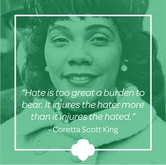 American author and activist Coretta Scott King, alongside her husband, Martin Luther King Jr., helped lead the U.S. civil rights movement in the 1960s. In 1955 she took part in the Montgomery bus boycott and played an active role in advocating for civil rights legislation. She worked hard to pass the Civil Rights Act of 1964, broadening her focus to include women's rights. She also championed economic reform and world peace and spoke out against intolerance in all its forms. #inspiration