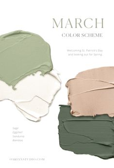 Earthy paint color scheme in grass and olive greens, peachy mauve blush, and warm white. Earthy paint color scheme in grass and olive greens, peachy mauve blush, and warm white. Green Colour Palette, Green Colors, Taupe Color Palettes, Olive Green Color, Pantone Colour Palettes, Green Sage, Warm Colours, Jade Green, Room Colors