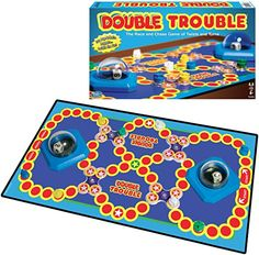 Amazon.com: Winning Moves Games Double Trouble : Toys & Games Games To Buy, Game Pieces, Double Trouble, Finish Line, Family Games, Tokyo Ghoul, Board Games, Battle, Kids Rugs
