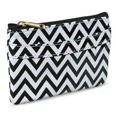 Merona® Chevron Coin Purse Wallet - Black/White