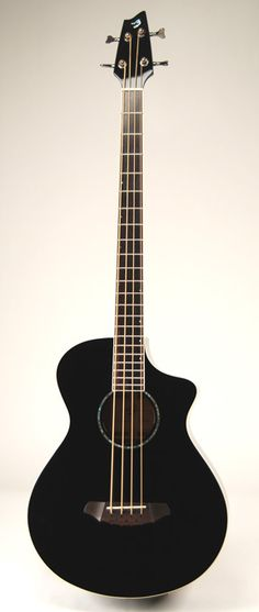 "Breedlove Atlas Series Black Bass ""B3"" Four String Acoustic Bass Guitar"