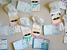 Recipe for a Cloud Bulletin Board - would like to use these chefs and have students do a spin on Cloudy with a Chance of Meatballs Drawing to go with them