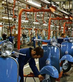 Piaggio factory assembly line