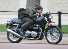 Tom Cruise during filming for All You Need Is Kill in central London