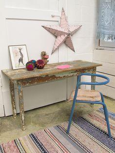 #furniture #kindermeubels #Bureau d écolier double. | LES PETITS BOHEMES