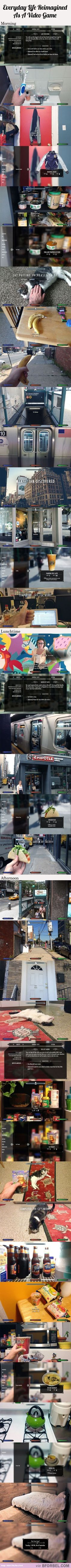 Everyday Life Re-imagined As A Video Game…