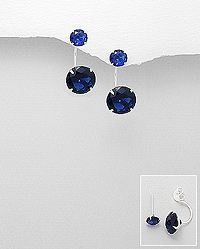 Sterling Silver Studs Decorated with Zircon, more colors available