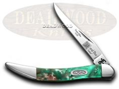 CASE XX Coral Sea Genuine Corelon 1/500 Toothpick Pocket Knife - CA910096CS | 910096CS - 026615306702