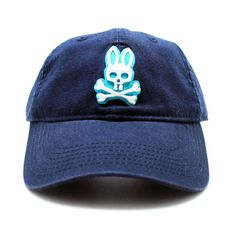 Psycho Bunny Everyday Baseball Hat in Navy
