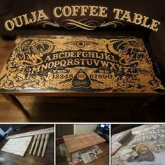 Looking for a unique looking coffee table? Then this project is for you! View the full album of this Ouija coffee table at http://theownerbuildernetwork.co/kzp6 Do you want one of these?