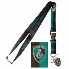 SLYTHERIN House Detachable Neck Lanyard ID Badge Holder Metal Charm Keychain NEW #Bioworld