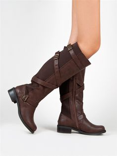 Soda WARM Strappy Buckle Riding Boot | Shop Soda Shoes
