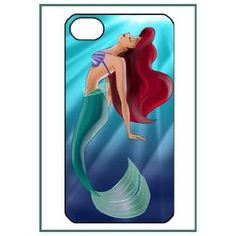 Ariel The Little Mermaid Cartoon Movie Cute Lovely Girl Girly Figure iPhone 4s iPhone4s Black Designer Hard Case Cover Protector Bumper