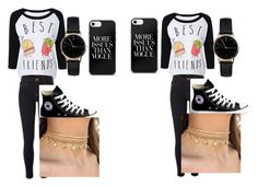 """""""best freinds"""" by beccawoohoo ❤ liked on Polyvore featuring River Island, Converse and Freedom To Exist"""