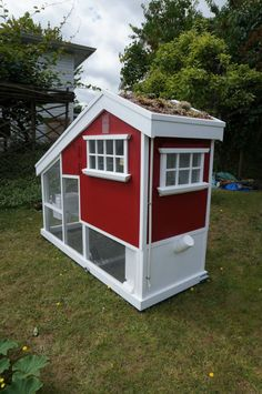 The solar-powered, Deluxe chicken coop built on Vancouver Island. Fully automated. looks perfect, just bountiful. Here all photos