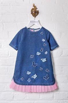 Denim Print Dress (Toddler, Little Girls, & Big Girls) by Beetlejuice London on @HauteLook