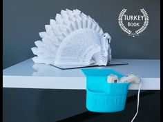 For Thanksgiving table decor that will go in the books as the best ever, check out our video tutorial for a unique Tom Turkey idea. Updated printable link be. Book Folding Templates, Book Folding Patterns, Book Turkey, Turkey Project, Book Page Crafts, Recycled Books, Folded Book Art, Recycling, Book Sculpture