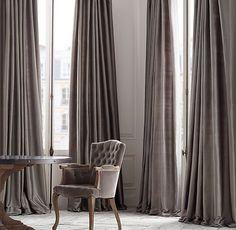 floor to ceiling || Thai Silk Tonal Stripe Drapery