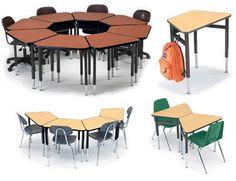 All Huddle Desk By Smith System Options Classroom Desk Arrangement, Classroom Seating Arrangements, Desk Arrangements, Classroom Furniture, School Furniture, Classroom Decor, Classroom Teacher, Classroom Design, Kids Furniture