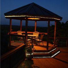 Solar powered led rope lights 100 leds rope lighting and outdoor solar string lighting for deck aloadofball Images