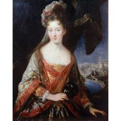 Portrait of Princess Louise-Hippolyte Jean Baptiste Vanloo (1684-1745 French) Canvas Art - Jean Baptiste Vanloo (18 x 24)
