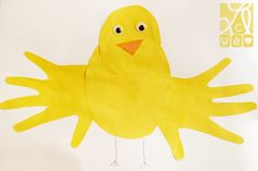 Handprint Crafts | Handprint Chick & Owl Crafts }