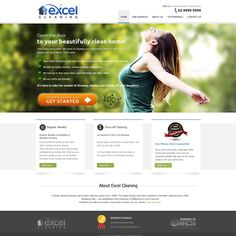 Create the next website design for Excel Cleaning