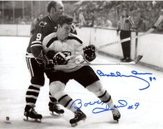 473afd40679 Bobby Hull   Bobby Orr Chicago Blackhawks Boston Bruins Autographed 8